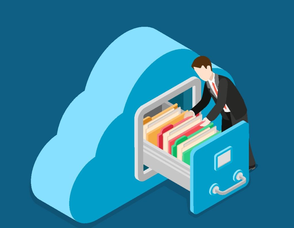 Datensicherung in der Cloud darstellen